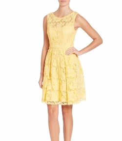 Sue Wong - Lace Fit-&-Flare Dress