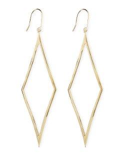 Lana   - 14k Gold Aura Diamond-Drop Earrings