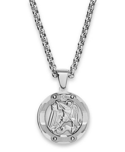 St. Michael  - Diamond Pendant Necklace