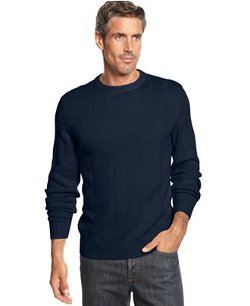 John Ashford  - Big And Tall Ribbed Crew-Neck Sweater