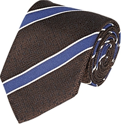 Bigi - Diagonal-Striped Jacquard Necktie