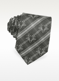 Givenchy  - Bug Crest Woven Silk Narrow Tie