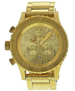 Nixon  - 42-20 Chrono Champagne Dial Gold Tone Mens Watch