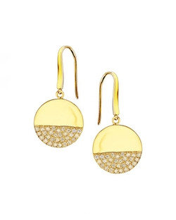 Lana - Illusion Pavé Diamond Disc Earrings