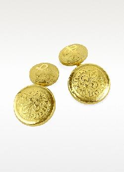 TORRINI  - Fiorino Fleur de Lis 18K Yellow Gold Cufflinks