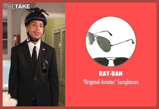 Ray-Ban black sunglasses from Black-ish seen with  Andre Johnson, Jr. (Marcus Scribner)