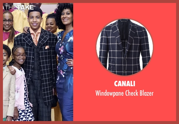 Canali blue blazer from Black-ish seen with  Andre Johnson, Jr. (Marcus Scribner)