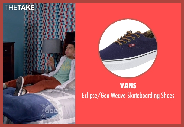 Vans blue shoes from Black-ish seen with  Andre Johnson, Jr. (Marcus Scribner)