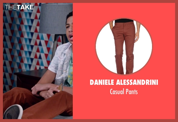 Daniele Alessandrini brown pants from Black-ish seen with  Andre Johnson, Jr. (Marcus Scribner)