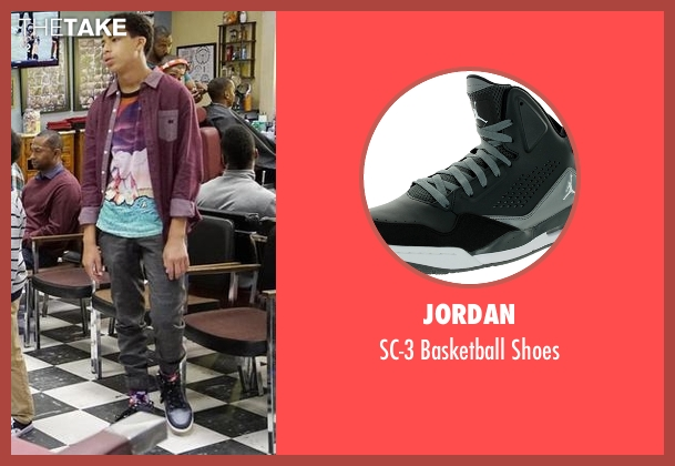 Jordan gray shoes from Black-ish seen with  Andre Johnson, Jr. (Marcus Scribner)