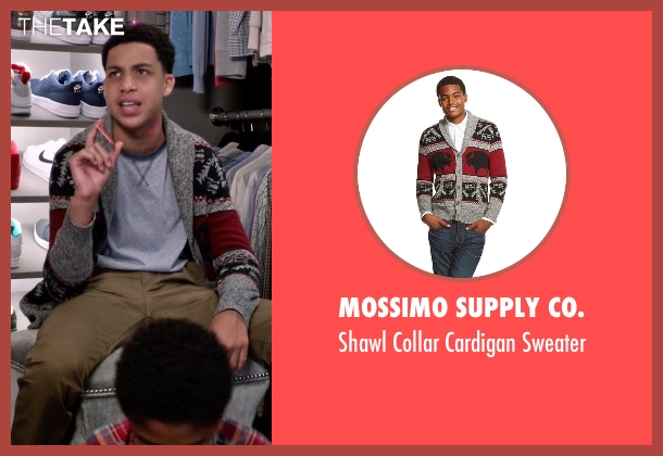 Mossimo Supply Co. gray sweater from Black-ish seen with  Andre Johnson, Jr. (Marcus Scribner)