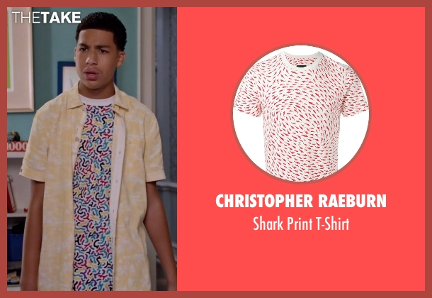 Christopher Raeburn white t-shirt from Black-ish seen with  Andre Johnson, Jr. (Marcus Scribner)