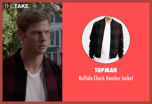 Topman red jacket from Pretty Little Liars seen with  Andrew Campbell  (Brandon Jones )