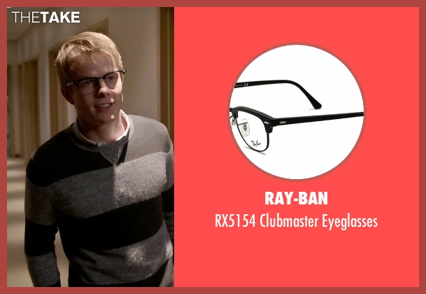 Ray-Ban black eyeglasses from Quantico seen with  Caleb Haas  (Graham Rogers)