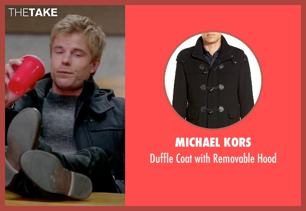Michael Kors black hood from Quantico seen with  Caleb Haas  (Graham Rogers)