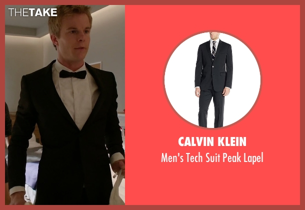 Calvin Klein black lapel from Quantico seen with  Caleb Haas  (Graham Rogers)