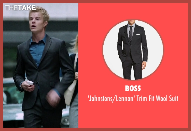 BOSS black suit from Quantico seen with  Caleb Haas  (Graham Rogers)