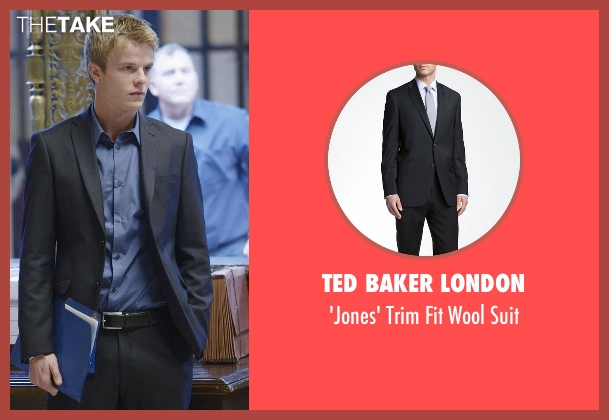 Ted Baker London black suit from Quantico seen with  Caleb Haas  (Graham Rogers)