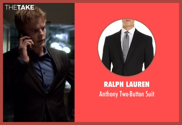 Ralph Lauren black suit from Quantico seen with  Caleb Haas  (Graham Rogers)