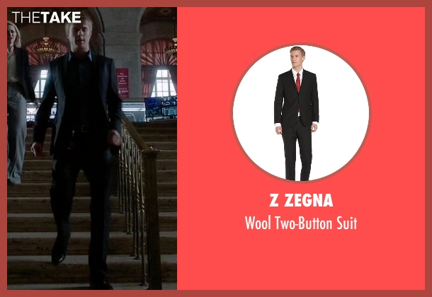 Z Zegna black suit from Quantico seen with  Caleb Haas  (Graham Rogers)