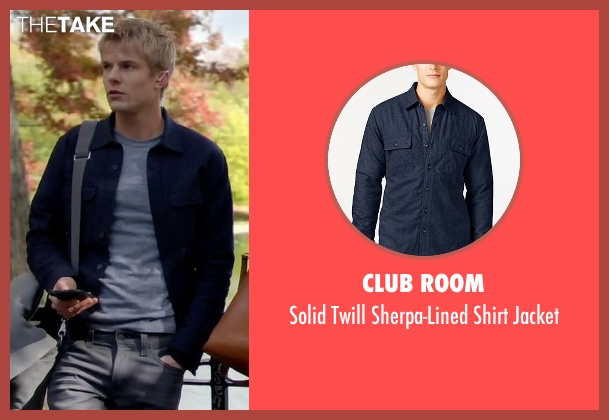 Club Room blue jacket from Quantico seen with  Caleb Haas  (Graham Rogers)
