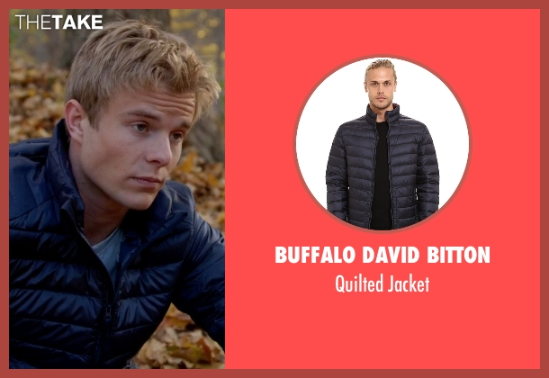 Buffalo David Bitton blue jacket from Quantico seen with  Caleb Haas  (Graham Rogers)
