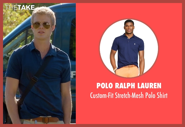 Polo Ralph Lauren blue shirt from Quantico seen with  Caleb Haas  (Graham Rogers)