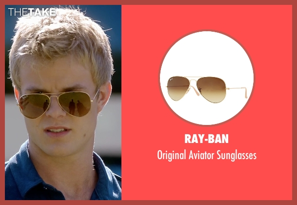 Ray-Ban	 gold sunglasses from Quantico seen with  Caleb Haas  (Graham Rogers)