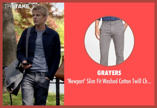 Grayers gray chinos from Quantico seen with  Caleb Haas  (Graham Rogers)