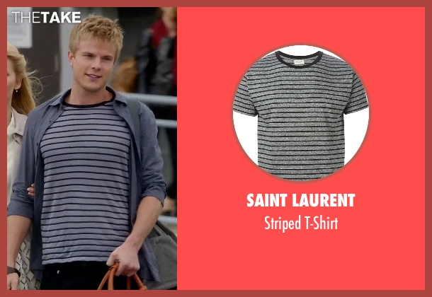 Saint Laurent gray t-shirt from Quantico seen with  Caleb Haas  (Graham Rogers)