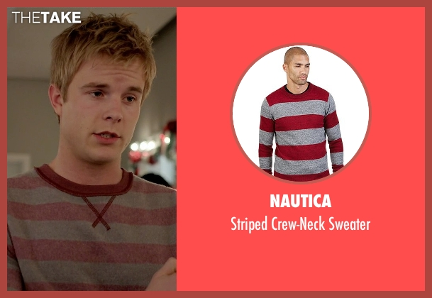 Nautica red sweater from Quantico seen with  Caleb Haas  (Graham Rogers)