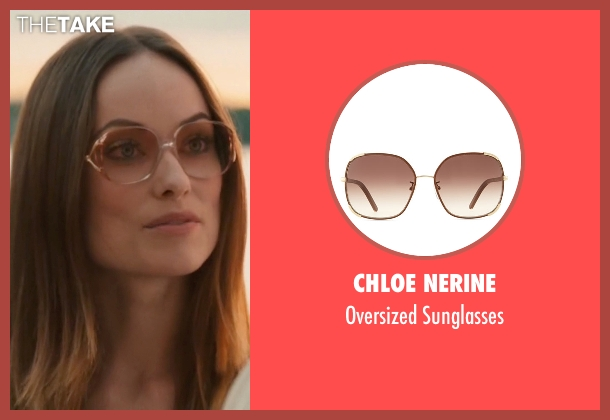Chloe Nerine brown sunglasses from Vinyl seen with  Devon Finestra (Olivia Wilde)