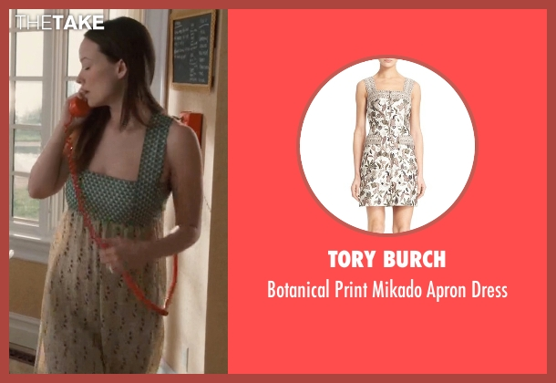 Tory Burch dress from Vinyl seen with  Devon Finestra (Olivia Wilde)