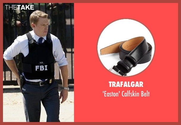 Trafalgar black belt from The Blacklist seen with  Donald Ressler (Diego Klattenhoff)
