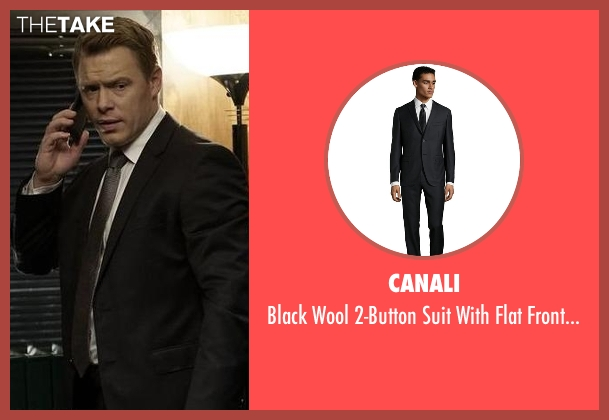 Canali black pants from The Blacklist seen with  Donald Ressler (Diego Klattenhoff)