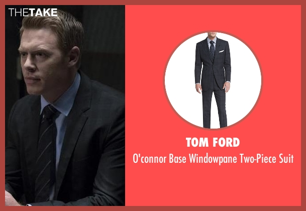 Tom Ford black suit from The Blacklist seen with  Donald Ressler (Diego Klattenhoff)
