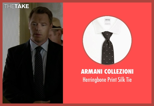 Armani Collezioni black tie from The Blacklist seen with  Donald Ressler (Diego Klattenhoff)