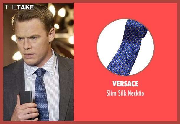 Versace blue necktie from The Blacklist seen with  Donald Ressler (Diego Klattenhoff)