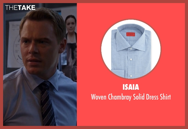 Isaia	 blue shirt from The Blacklist seen with  Donald Ressler (Diego Klattenhoff)