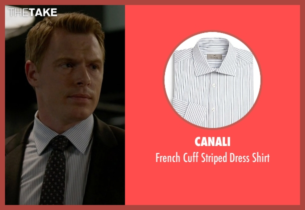 Canali blue shirt from The Blacklist seen with  Donald Ressler (Diego Klattenhoff)