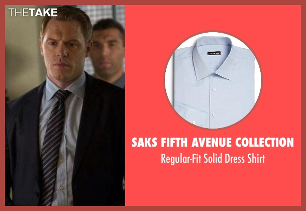 Saks Fifth Avenue Collection blue shirt from The Blacklist seen with  Donald Ressler (Diego Klattenhoff)