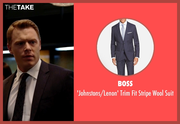 BOSS blue suit from The Blacklist seen with  Donald Ressler (Diego Klattenhoff)