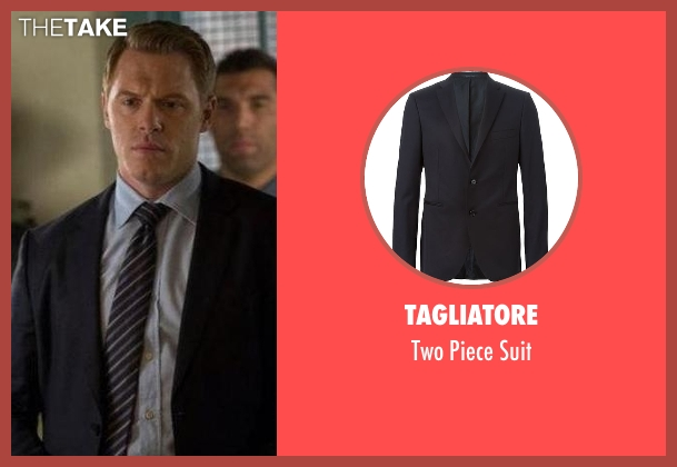 Tagliatore blue suit from The Blacklist seen with  Donald Ressler (Diego Klattenhoff)