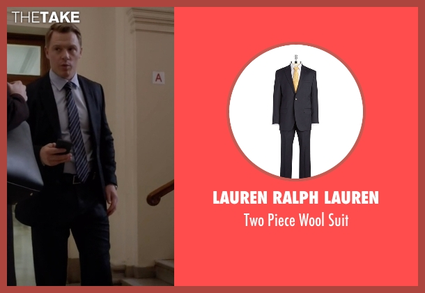 Lauren Ralph Lauren  blue suit from The Blacklist seen with  Donald Ressler (Diego Klattenhoff)