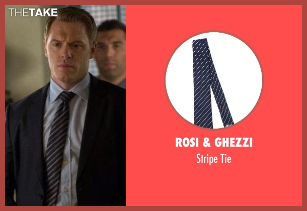 Rosi & Ghezzi blue tie from The Blacklist seen with  Donald Ressler (Diego Klattenhoff)