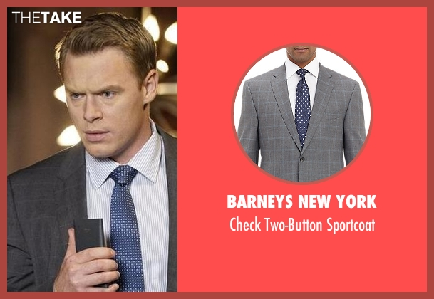 Barneys New York gray sportcoat from The Blacklist seen with  Donald Ressler (Diego Klattenhoff)