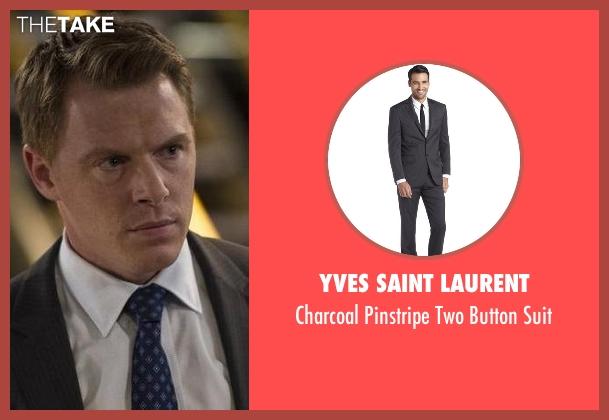 Yves Saint Laurent gray suit from The Blacklist seen with  Donald Ressler (Diego Klattenhoff)