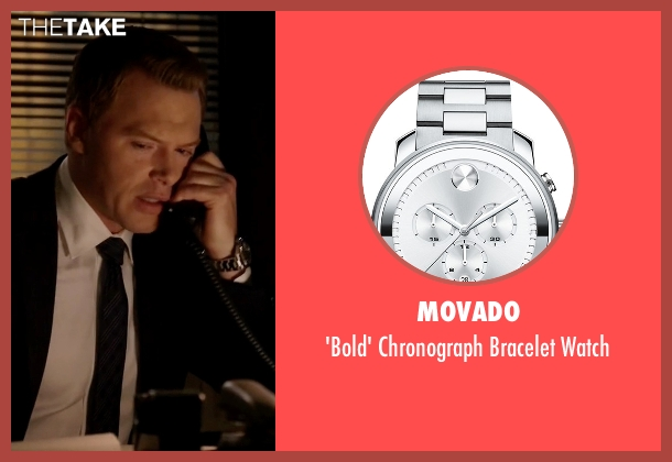 Movado silver watch from The Blacklist seen with  Donald Ressler (Diego Klattenhoff)