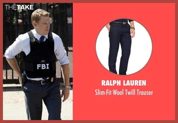 Ralph Lauren trouser from The Blacklist seen with  Donald Ressler (Diego Klattenhoff)