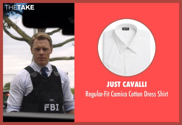 Just Cavalli white shirt from The Blacklist seen with  Donald Ressler (Diego Klattenhoff)